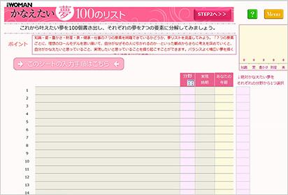 かなえたい夢100のリスト