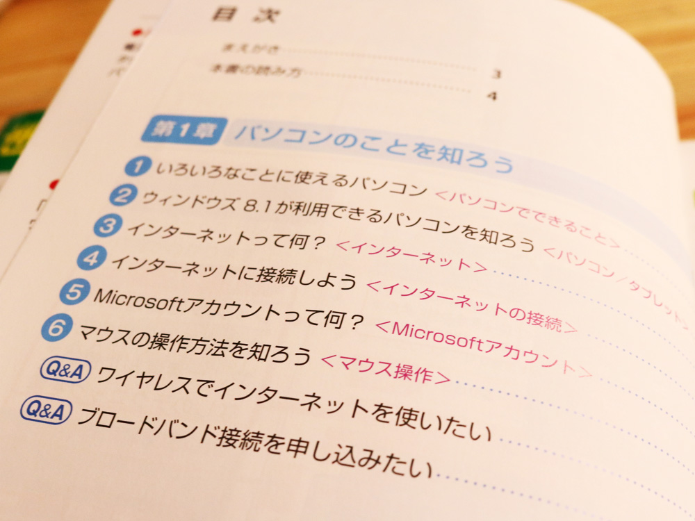 パソコンの入門書 目次 (1)